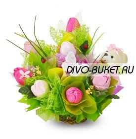 """Букет из конфет №660 """"Остров счастья"""""""